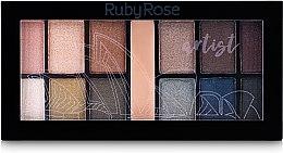 Палетка теней для век с праймером - Ruby Rose Mini Kit — фото N2