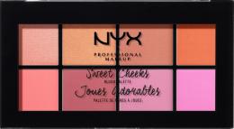 Духи, Парфюмерия, косметика Палектка румян - NYX Professional Makeup Sweet Cheeks Blush Palette