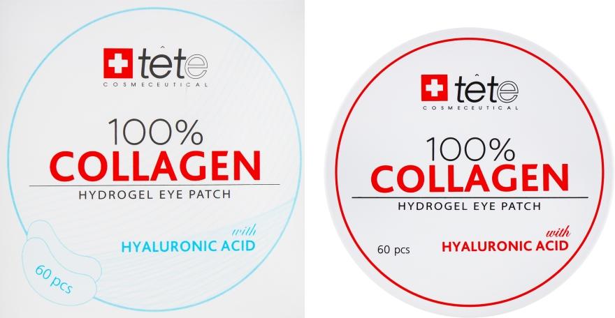 Коллагеновые патчи под глаза - TETe Cosmeceutical 100% Collagen Hydrogel Patch