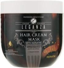 Духи, Парфюмерия, косметика Крем-маска для волос с кератином - Leganza Cream Hair Mask With Keratin (без дозатора)