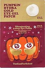 Духи, Парфюмерия, косметика Двухшаговые гидрогелевые патчи с экстрактом тыквы и коллоидным золотом - Too Cool For School Pumpkin Hydra Gold Eye Gel Patch