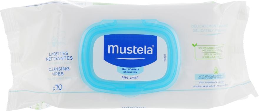 Салфетки влажные для смены подгузников, 70шт - Mustela Bebe Cleansing and Soothing Wipes