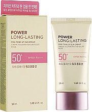 Духи, Парфюмерия, косметика Солнцезащитный крем - The Face Shop Power Long-Lasting Pink Tone Up Sun Cream SPF50+ PA++++