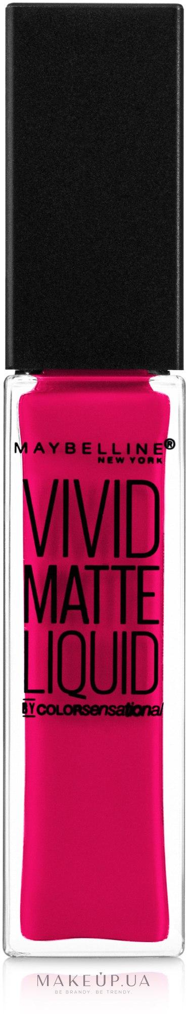 Блеск для губ - Maybelline New York Color Sensational Vivid Matte Liquid — фото 15 - Electric Pink