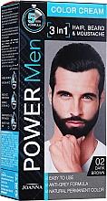 Парфумерія, косметика Стійка фарба 3 в 1 для чоловіків - Joanna Power Man Color