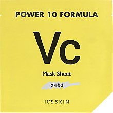 Духи, Парфюмерия, косметика Тканевая маска, тонизирующая - It's Skin Power 10 Formula Mask Sheet VC