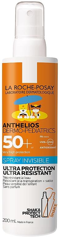 Детский солнцезащитный ультралегкий спрей для лица и тела SPF50+ - La Roche-Posay Anthelios Dermo-Pediatrics Invisible Spray