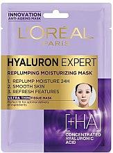 Духи, Парфюмерия, косметика Тканевая маска для лица - L'Oreal Paris Hyaluron Expert Replumping Moisturizing Mask
