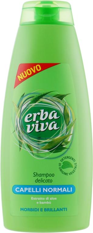 Шампунь для нормальных волос с экстрактом бамбука и алоэ - Erba Viva Hair Shampoo