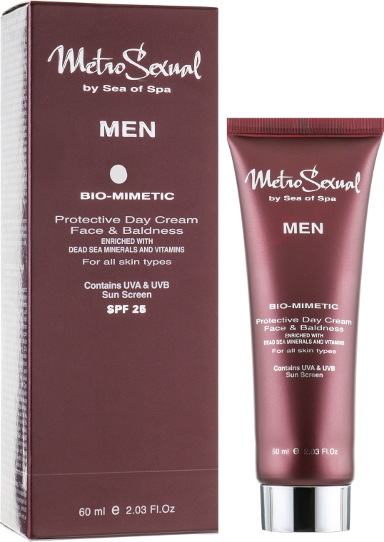 Защитный дневной крем для лица - Sea Of Spa MetroSexual Bio-Mimetic Protective Day Cream SPF25