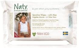 Духи, Парфюмерия, косметика Влажные эко салфетки с алоэ - Naty Sensitive Wipes