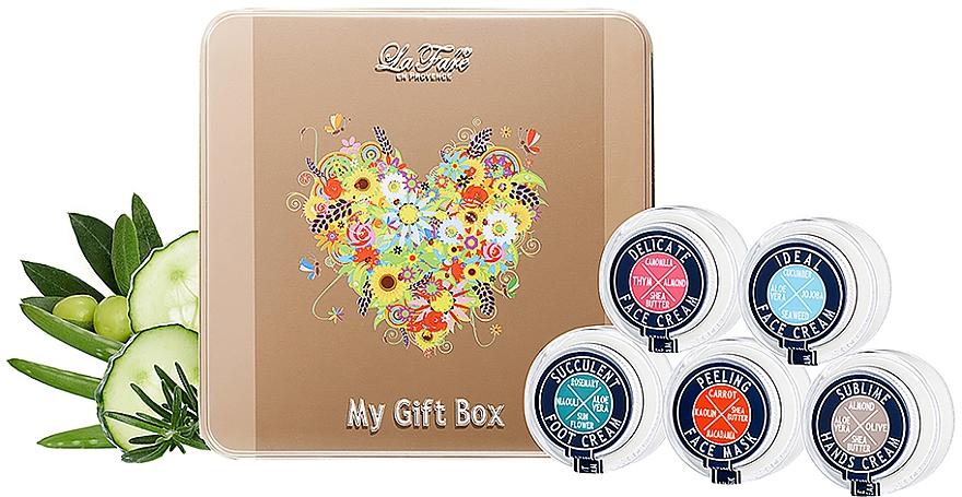 Набор подарочный - La Fare 1789 Vegan Giftbox (face/cr/2x30ml + face/mask/30ml + hand/cr/30ml + foot/cr/30ml)