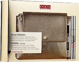 Духи, Парфюмерия, косметика Набор - Pupa Vamp Definition & Multiplay 2019 (mascara/9ml + pencil/0.8g + bag)