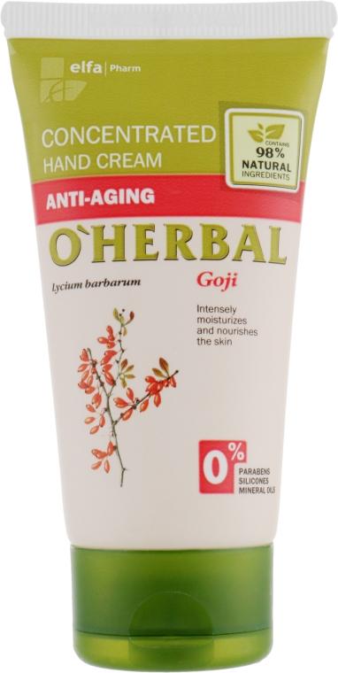 """Концентрированный крем для рук """"Омолаживающий"""" с экстрактом годжи - O'Herbal Hand Cream"""