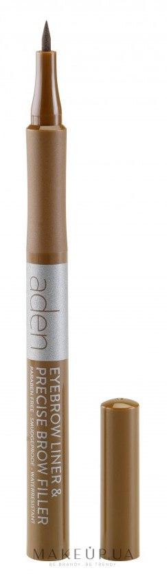 Маркер для бровей - Aden Cosmetics Eyebrow Liner & Precise Brow Filler — фото 01