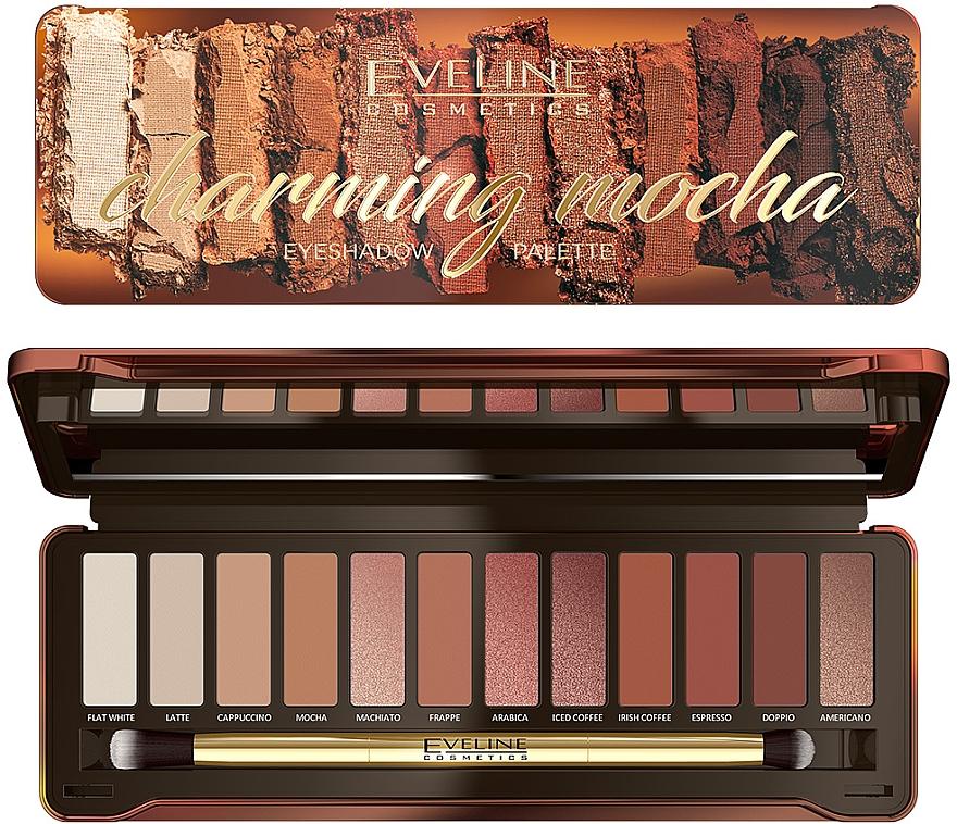 Палетка теней для век - Eveline Cosmetics Charming Mocha Eyeshadow