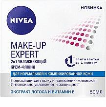 Духи, Парфюмерия, косметика Крем-флюид увлажняющий 2в1 для нормальной и комбинированной кожи - Nivea Visage Make-Up Expert Day Cream