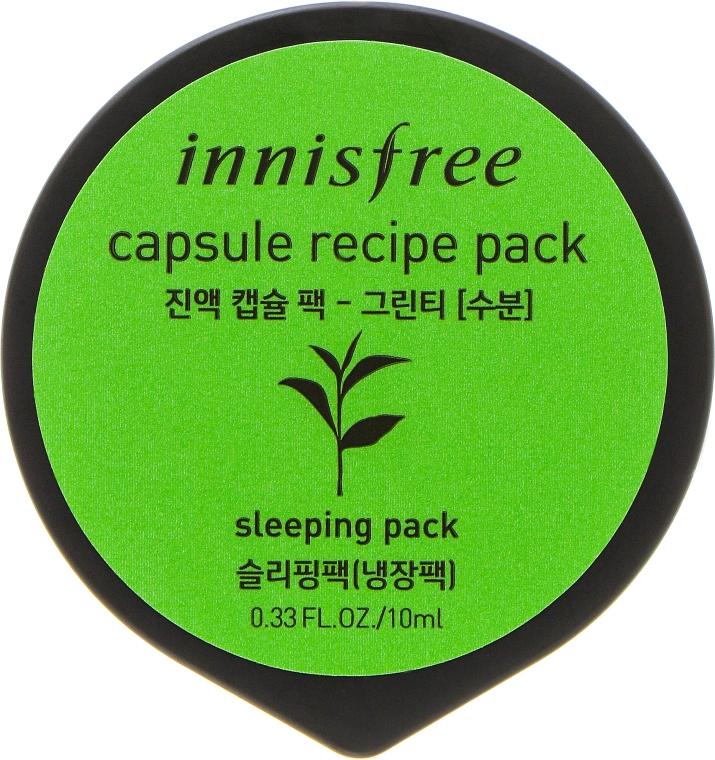 Мини-маска на основе зеленого чая - Innisfree Capsule Recipe Pack Green Tea