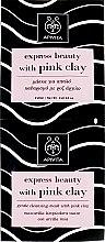 Духи, Парфюмерия, косметика Маска деликатного очищения с розовой глиной - Apivita Gentle Cleansing Mask (мини)