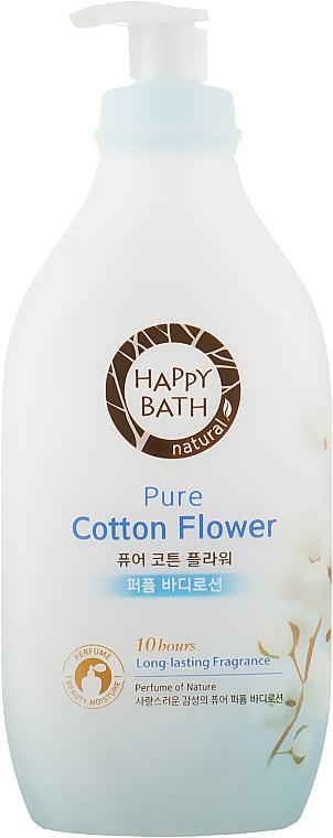Лосьон для тела увлажняющий с экстрактом хлопка - Happy Bath Pure Cotton Flower Perfume Body Lotion