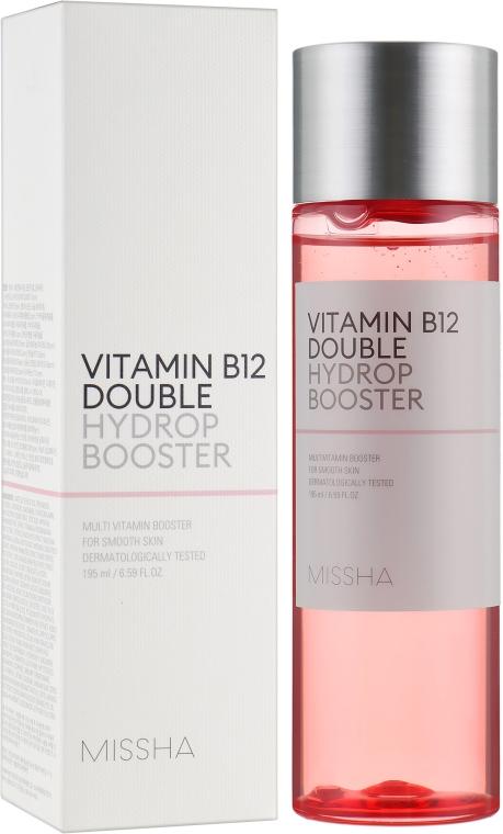 Увлажняющий тоник-бустер для лица - Missha Vitamin B12 Double Hydrop Booster