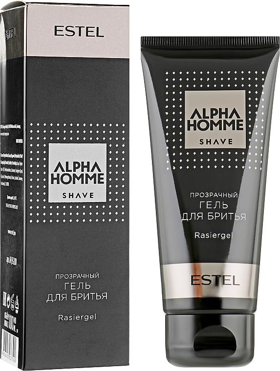 Прозрачный гель для бритья - Estel Professional Alpha Homme Rasiergel