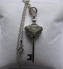 Духи, Парфюмерия, косметика Simone Cosac Profumi Key with Crystal Heart Pendant Silver Bianca - Духи