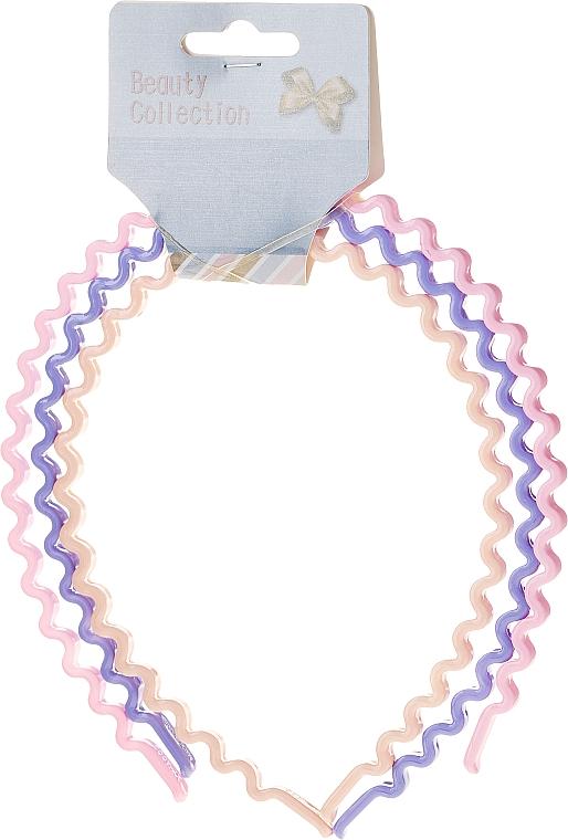 Обручи для волос «Beauty Collection», разноцветные, 27345 - Top Choice Hair Headbands