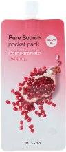 Духи, Парфюмерия, косметика Маска с экстрактом граната - Missha Pure Source Pocket Pack Pomegranate