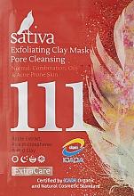 Духи, Парфюмерия, косметика Маска-гоммаж для очищения пор №111 - Sativa Extra Care Exfoliating Clay Mask Pore Cleansing