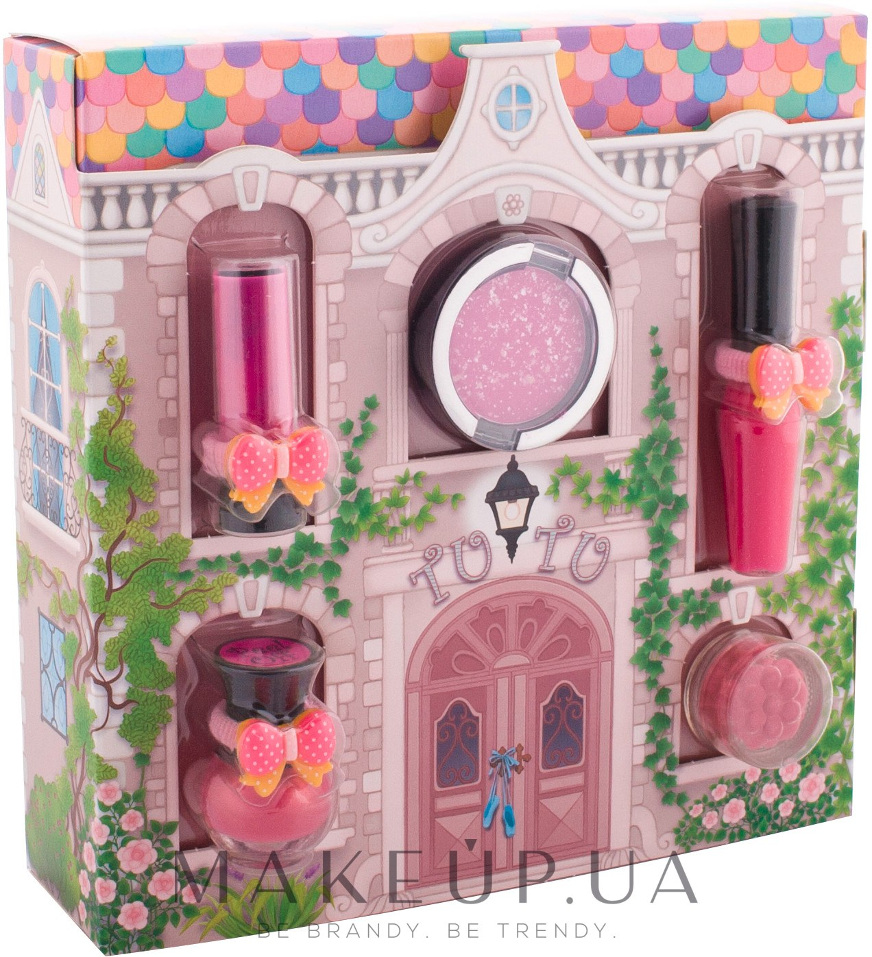 "Набор косметики ""Волшебный домик"" - Tutu Cottage Set (l/balm/4ml+l/gloss/7ml+n/polish/5ml+e/sh/4.5ml+e/sh/2.5ml) — фото 01 - Scarlet Bow"