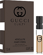 Духи, Парфюмерия, косметика Gucci Guilty Absolute Pour Homme - Парфюмированная вода (пробник)