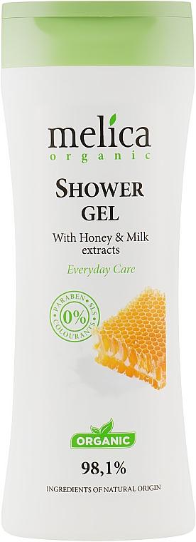 Гель для душа с медом и молоком - Melica Organic Shower Gel