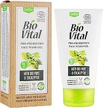 Духи, Парфюмерия, косметика Гель для умывания с мятой и эвкалиптом - DeBa Bio Vital Face Wash