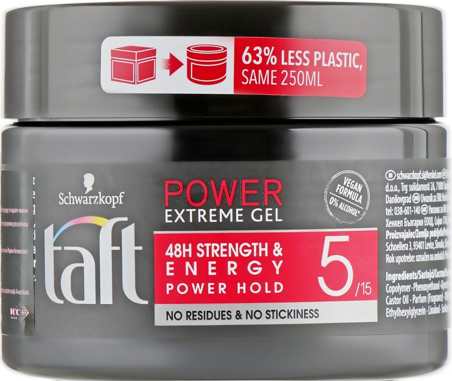 Гель для волос, фиксация 5 - Taft Power Extreme