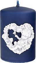 Духи, Парфюмерия, косметика Декоративная свеча темно-синяя, 7х10см - Artman Amore