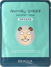 "Духи, Парфюмерия, косметика Тканевая маска для лица в зверином стиле ""Овечка"" - Bioaqua Animal Sheep Nourish Mask"