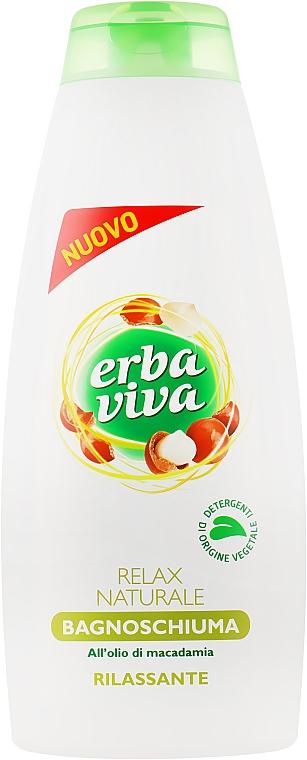 Расслабляющая гель-пена для душа и ванны с маслом ореха макадамии - Erba Viva Bath&Shower Gel Relax