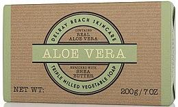 "Духи, Парфюмерия, косметика Мыло ""Алоэ вера"" - Delray Beach Skincare Aloe Vera Triple Milled Vegetable Soap Bar"