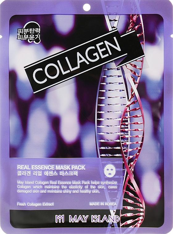 Маска для лица тканевая - May Island Real Essence Collagen Mask Pack