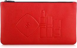 Духи, Парфюмерия, косметика Косметичка на молнии красная, 23х13см - Chanel Makeup