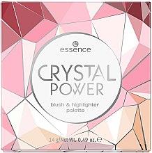 Духи, Парфюмерия, косметика Палетка для макияжа румяна и хайлайтер - Essence Crystal Power Blush & Highlighter Palette