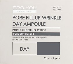 Духи, Парфюмерия, косметика Ампулы с концентратом для сужения пор - Pro You Professional Pore Fill Up Wrinkle Day & Night Ampoule Dual Set