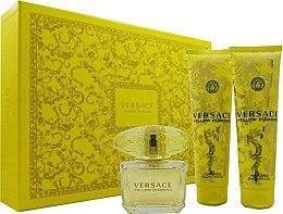 Духи, Парфюмерия, косметика Versace Yellow Diamond - Набор (edt/90ml + b/lot/150ml + sh/gel/150ml)