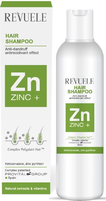 Шампунь для волос от всех видов перхоти - Revuele Zinc+ Hair Shampoo