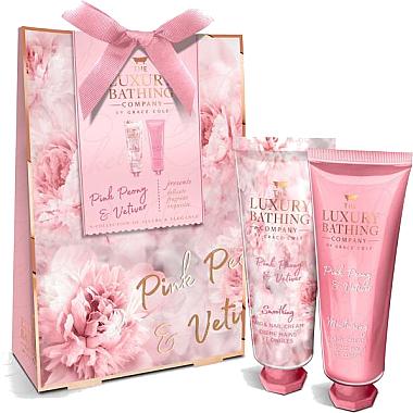 Набор с ароматом пиона и ветивера - Grace Cole Pink Peony & Vetiver Dainty Duo (b/cream/50ml + h/cream/50ml)