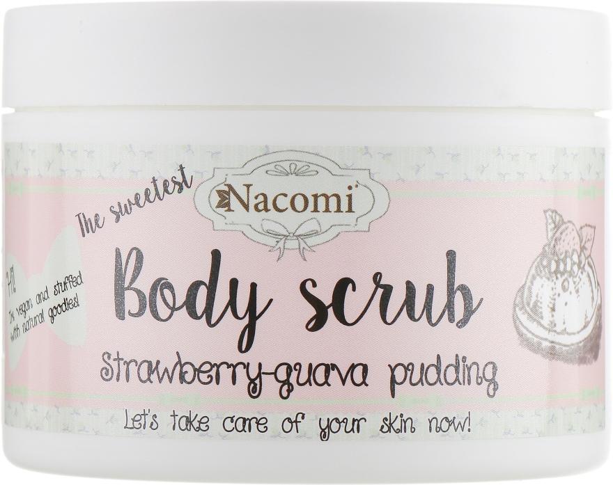 Пилинг-скраб для тела - Nacomi Body Scrub Strawberry-Guava Pudding