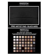 Духи, Парфюмерия, косметика Палетка теней для век, 48 оттенков - Freedom Makeup London Pro Artist Pad Black Arts