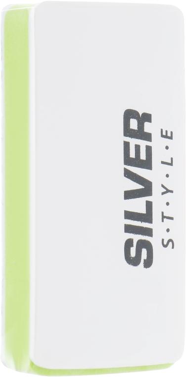 Брусок полировочный, SB-7062, бело-зеленый - Silver Style