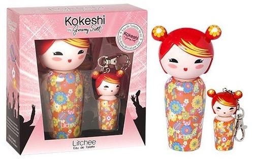 Kokeshi Parfums Litchee by Jeremy Scott - Набор (edt/50ml + edt/5ml с брелком)